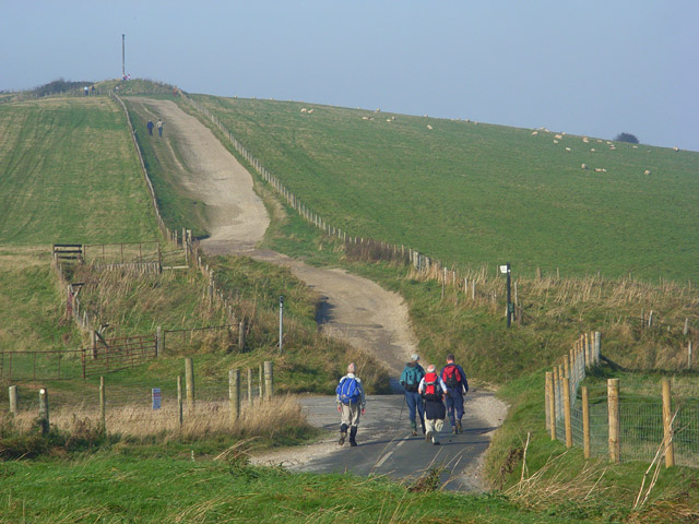 Road and byway to Combe Gibbet - geograph.org.uk - 1014643