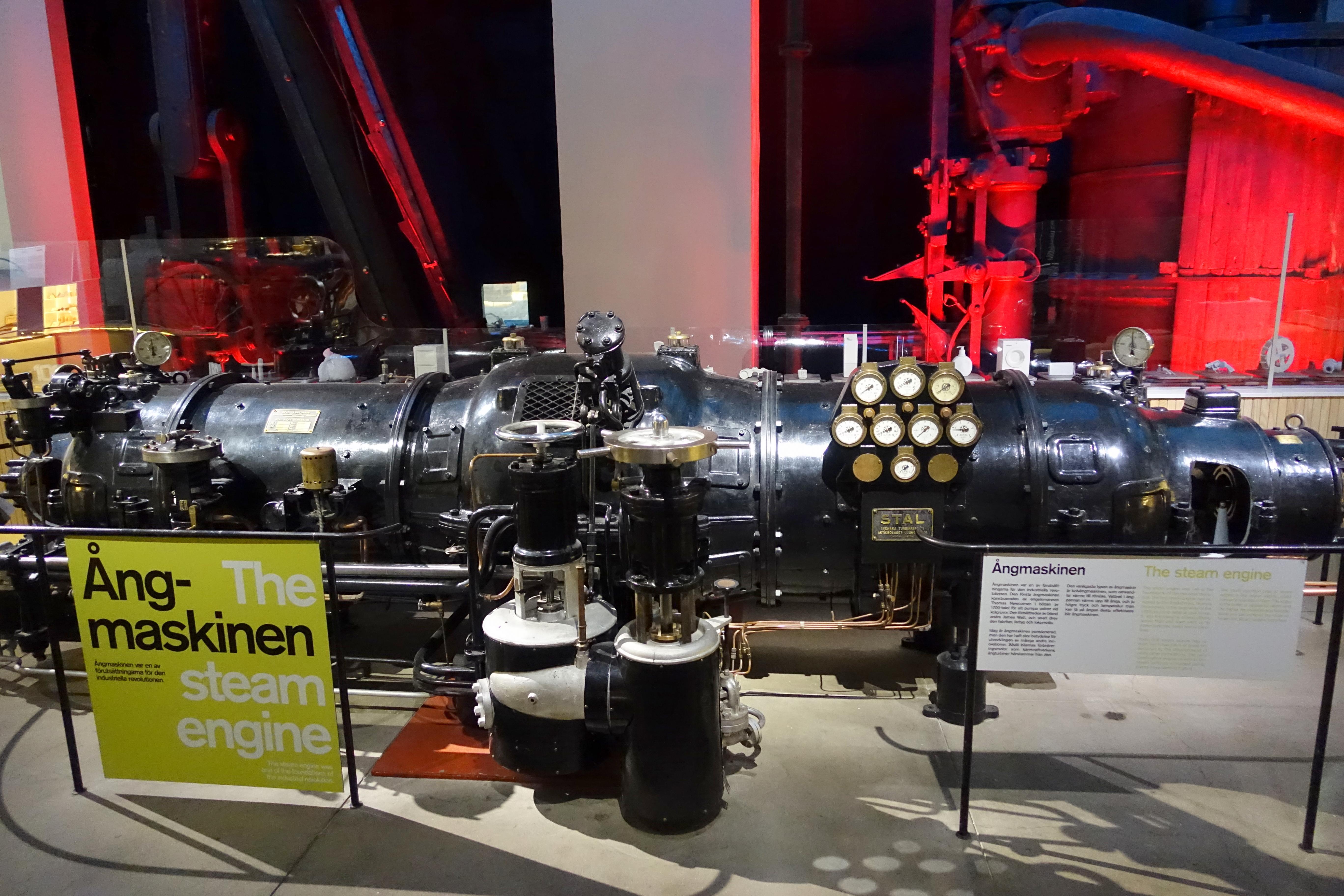 File STAL steam turbine Tekniska museet Stockholm Sweden