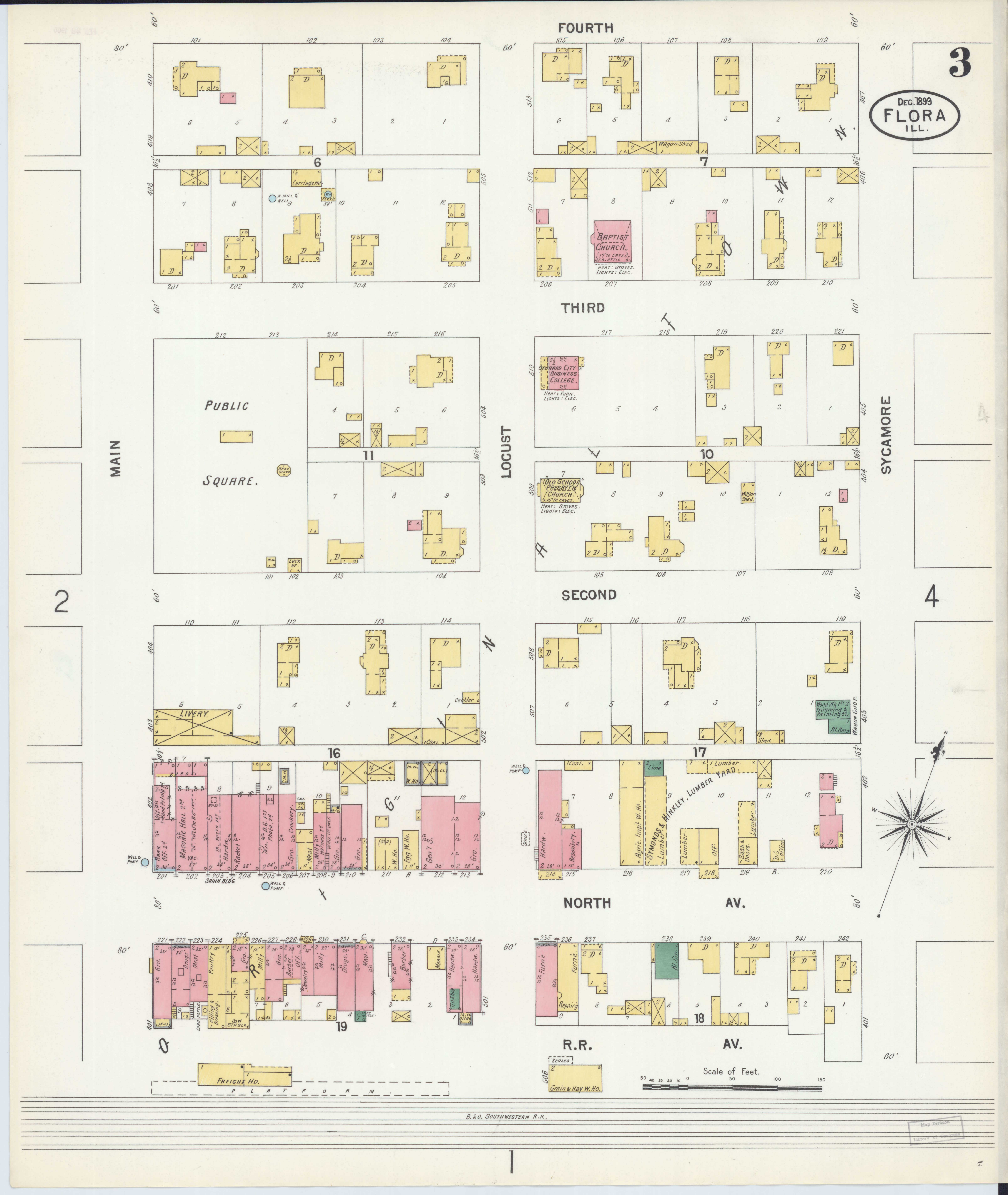 File Sanborn Fire Insurance Map From Flora Clay County Illinois