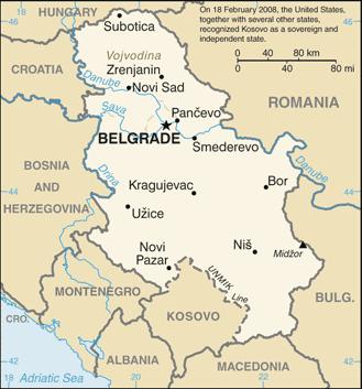 World Map Serbia
