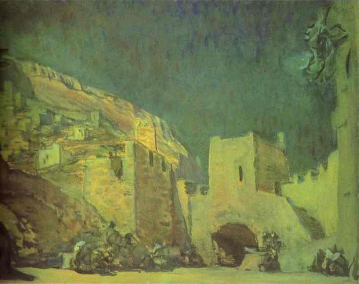 Эскиз декораций к опере «Юдифь»