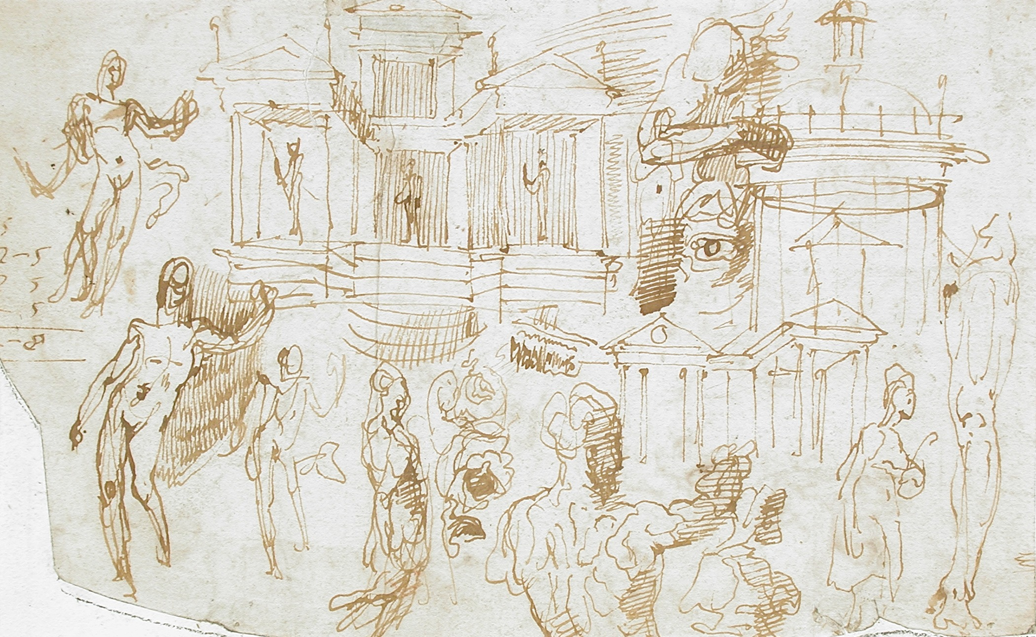 Attirant File:Sheet Of Figural, Ornamental And Architectural Studies (recto And  Verso) LACMA