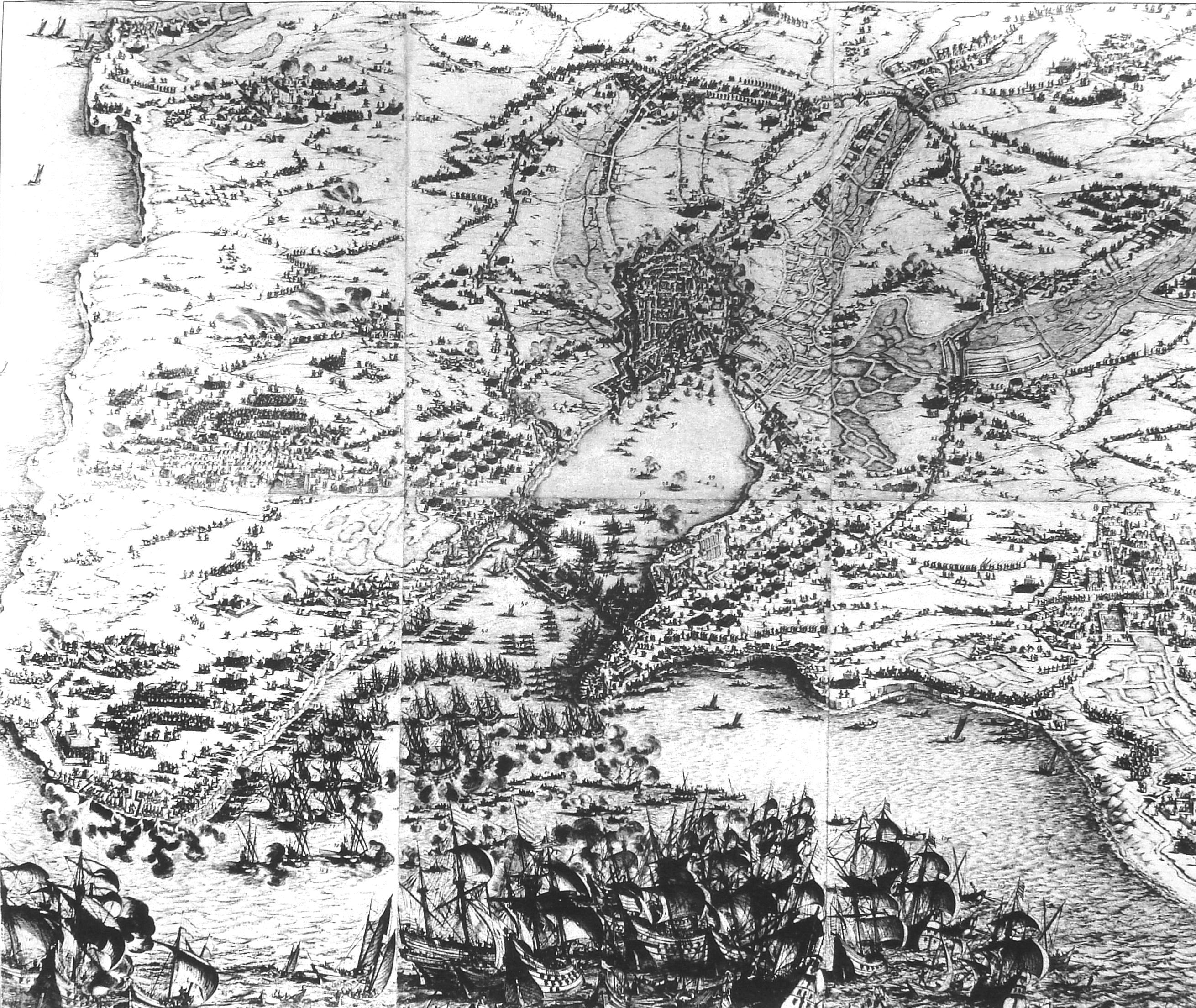 Le Siège de La Rochelle par Jacques Callot