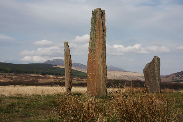 Standing stones on Machrie Moor - geograph.org.uk - 799916