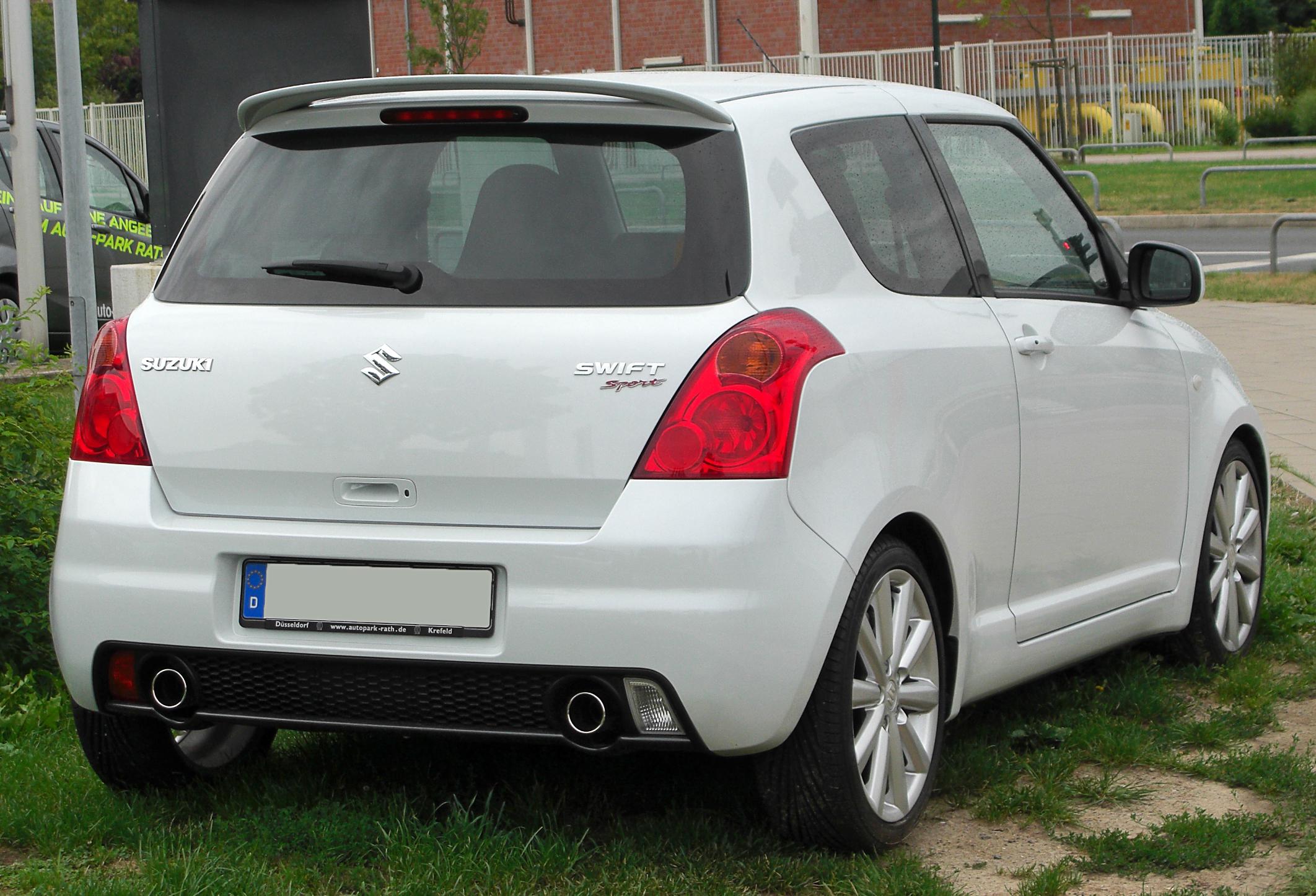 File:Suzuki Swift Sport (EZ) Rear 20100731.jpg