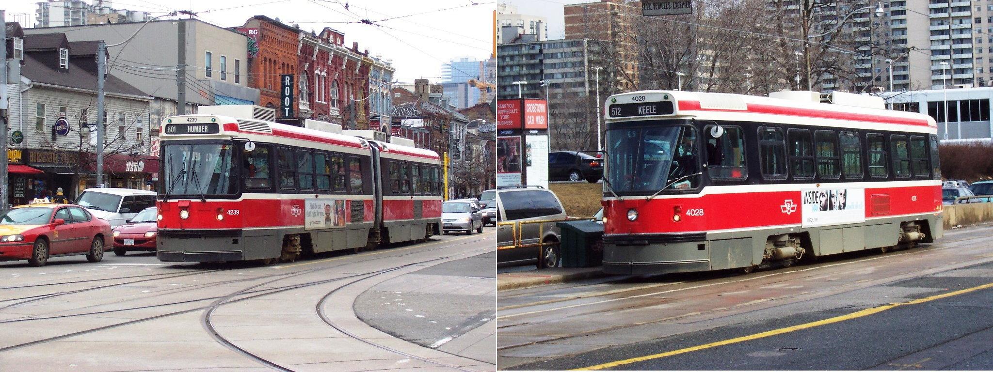 Tiedosto:TTC ALRV and CLRV streetcars 4239 and 4028.jpg