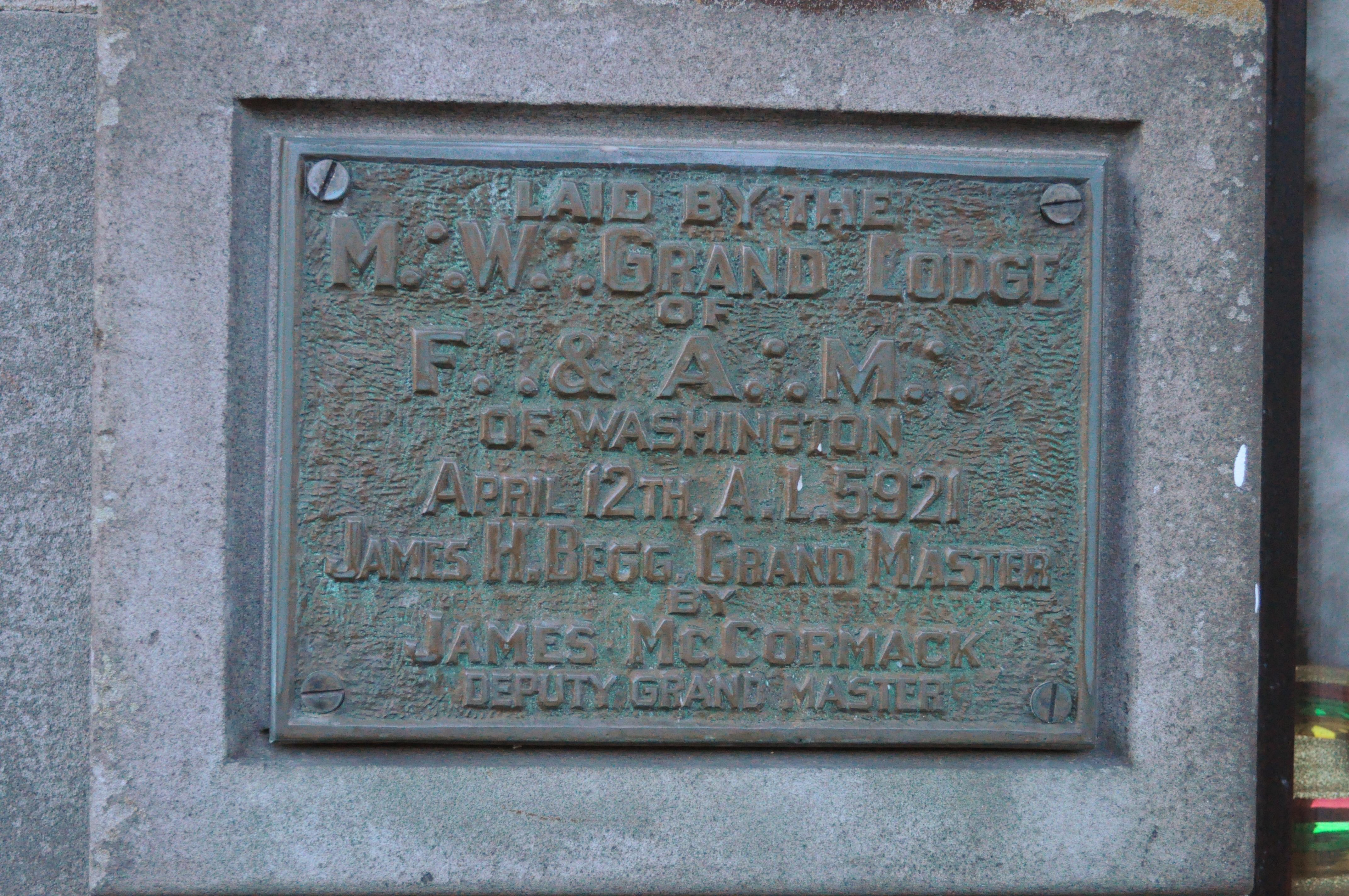 File:Tenino, WA - Masonic Lodge plaque 01 jpg - Wikimedia Commons