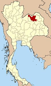 ウドーンターニー県の位置