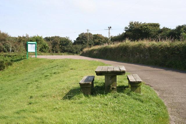 The Car Park at Drift Reservoir Dam - geograph.org.uk - 927526
