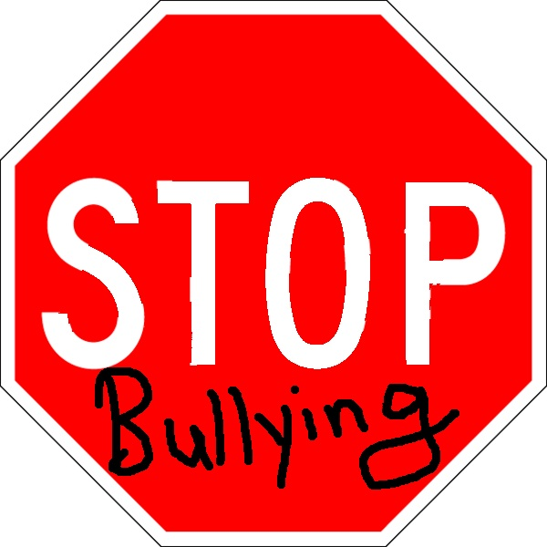 The image is a stop sign with the words stop bullying 2014-02-18 21-03