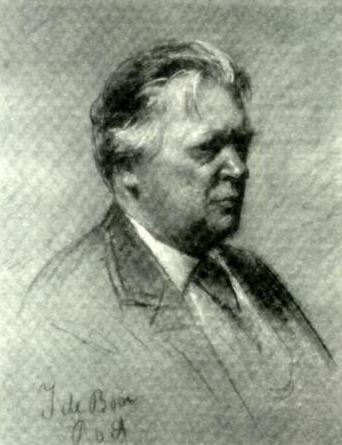 Theodor Kirchner - Pastellgemälde von Julie de Boor 1898