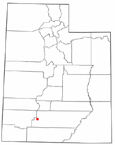 Location of Panguitch, Utah