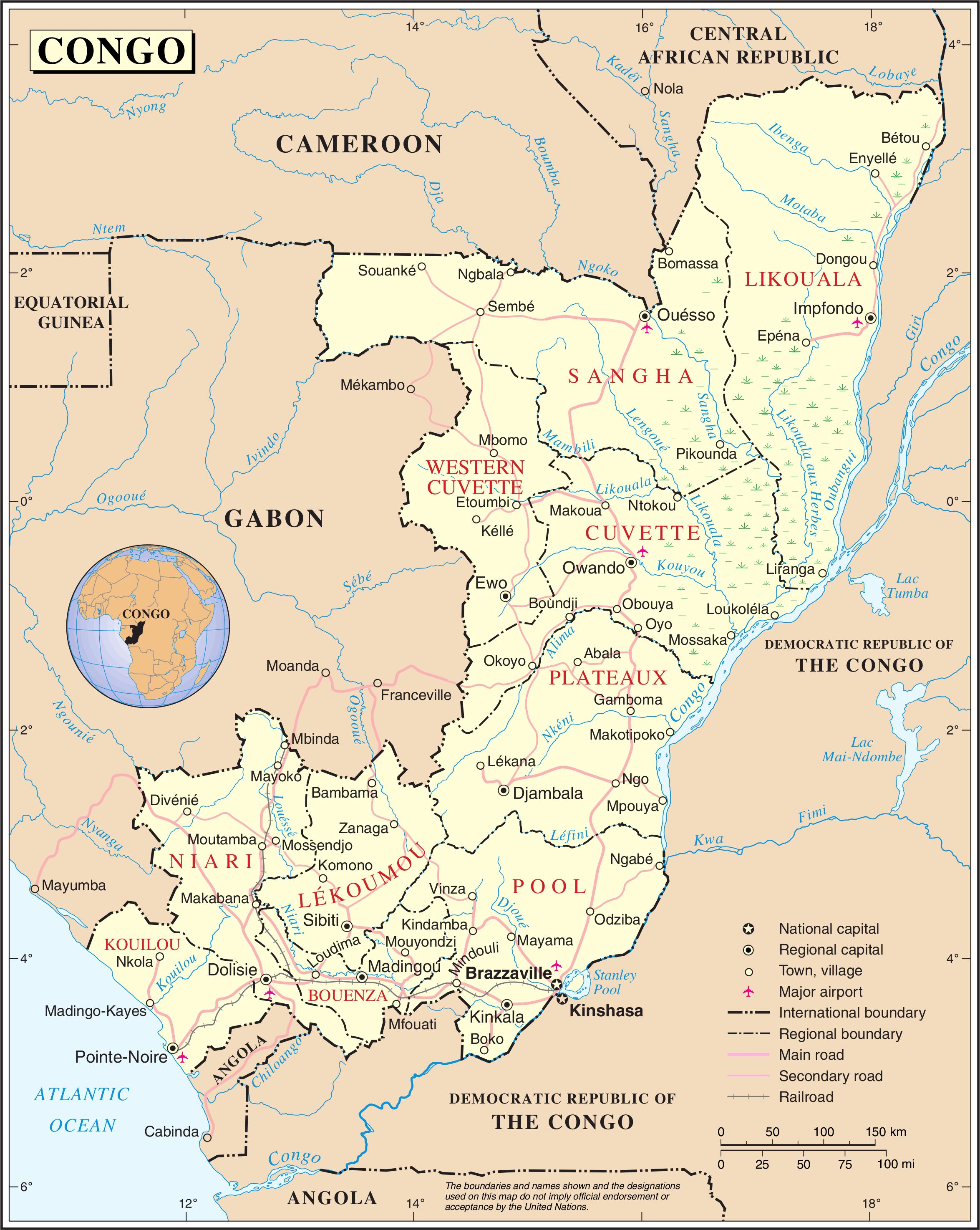 CONGO BRAZZAVILLE MAP