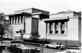 Exterior of the Unity Temple.