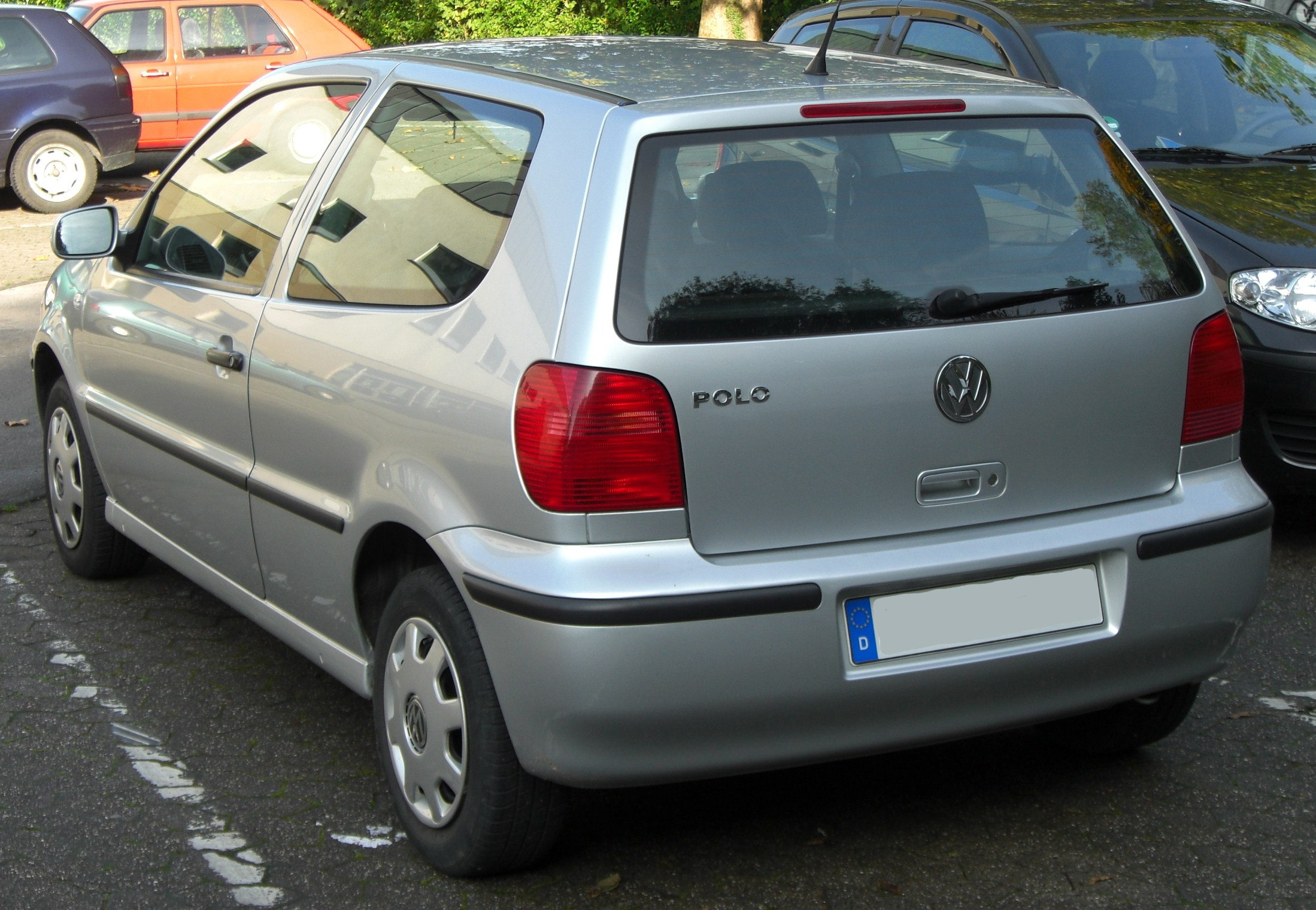 file vw polo iii 2 facelift rear jpg wikimedia commons