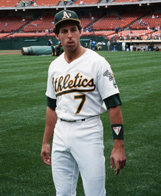 Weiss with the A's in 1989
