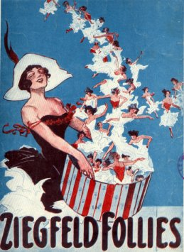 Ziegfeld Follies, 1912 advertising art, scanne...