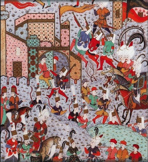 File:1521-Rounding up captives at the siege of Rhodes-Sueymanname.jpg