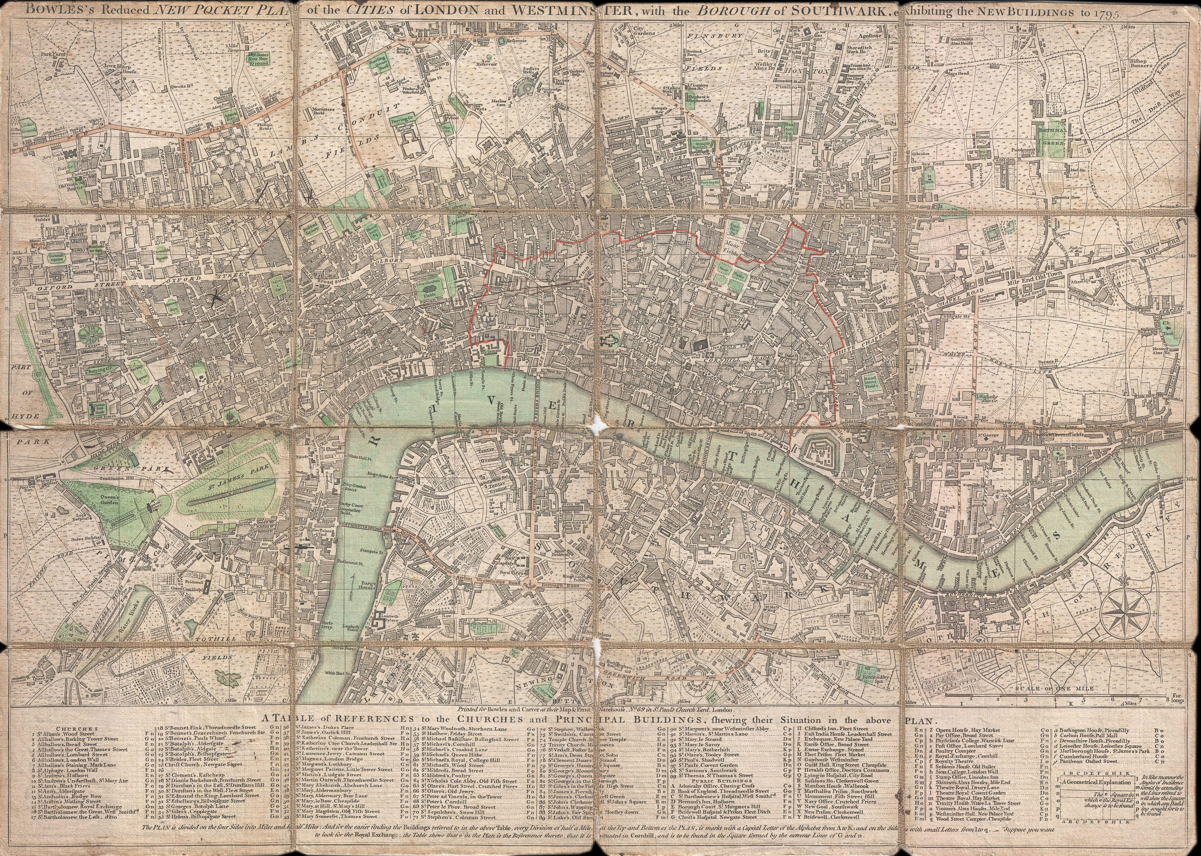File:1795 Bowles Pocket Map of London - Geographicus