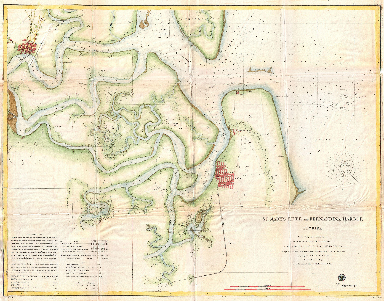 Understanding Marine Charts: Original Town of Fernandina Historic Site - Wikipedia,Chart