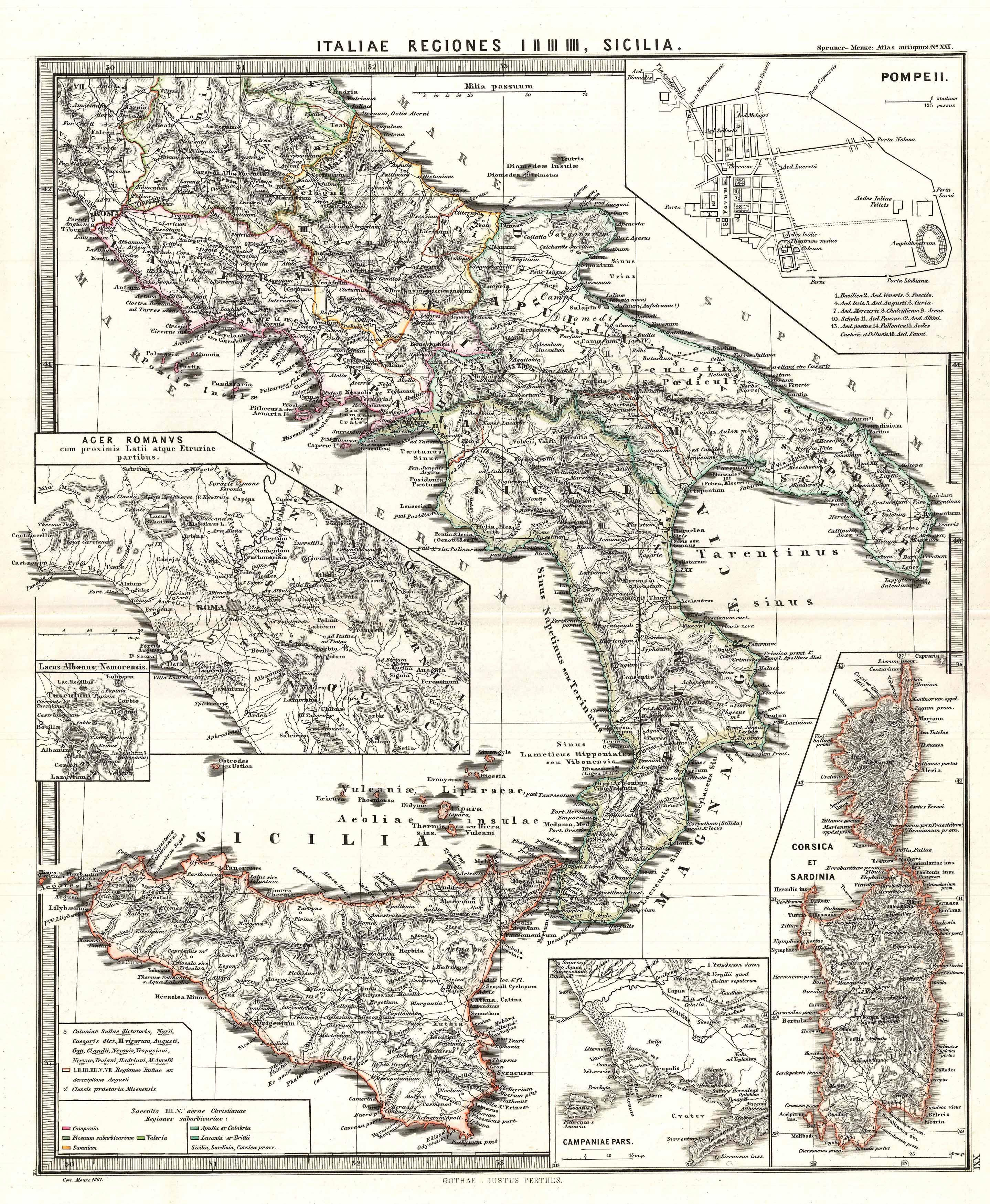 File 1865 Spruner Map Of Southern Italy And Sicily Geographicus