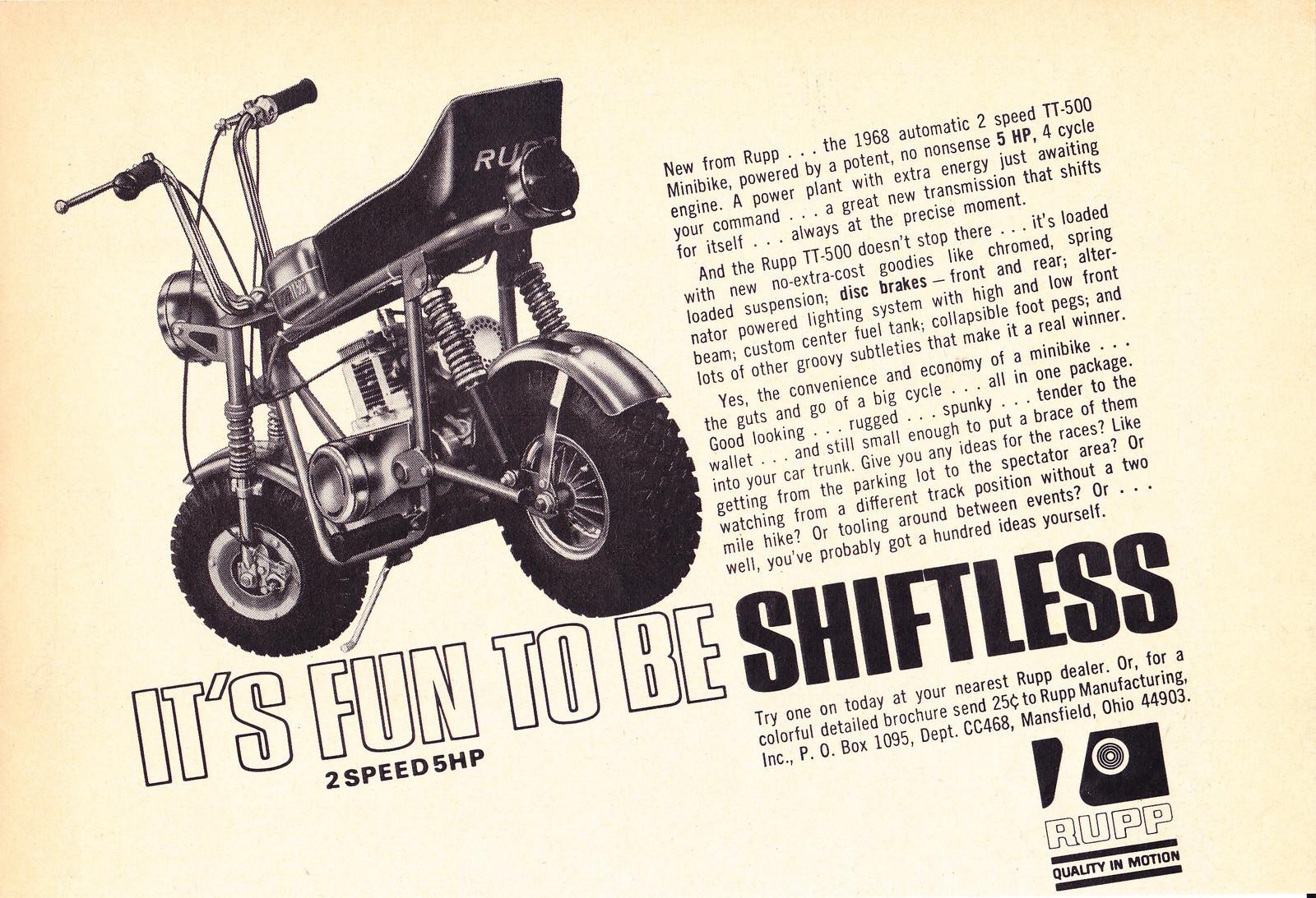 Vintage sprint rupp mini bike history
