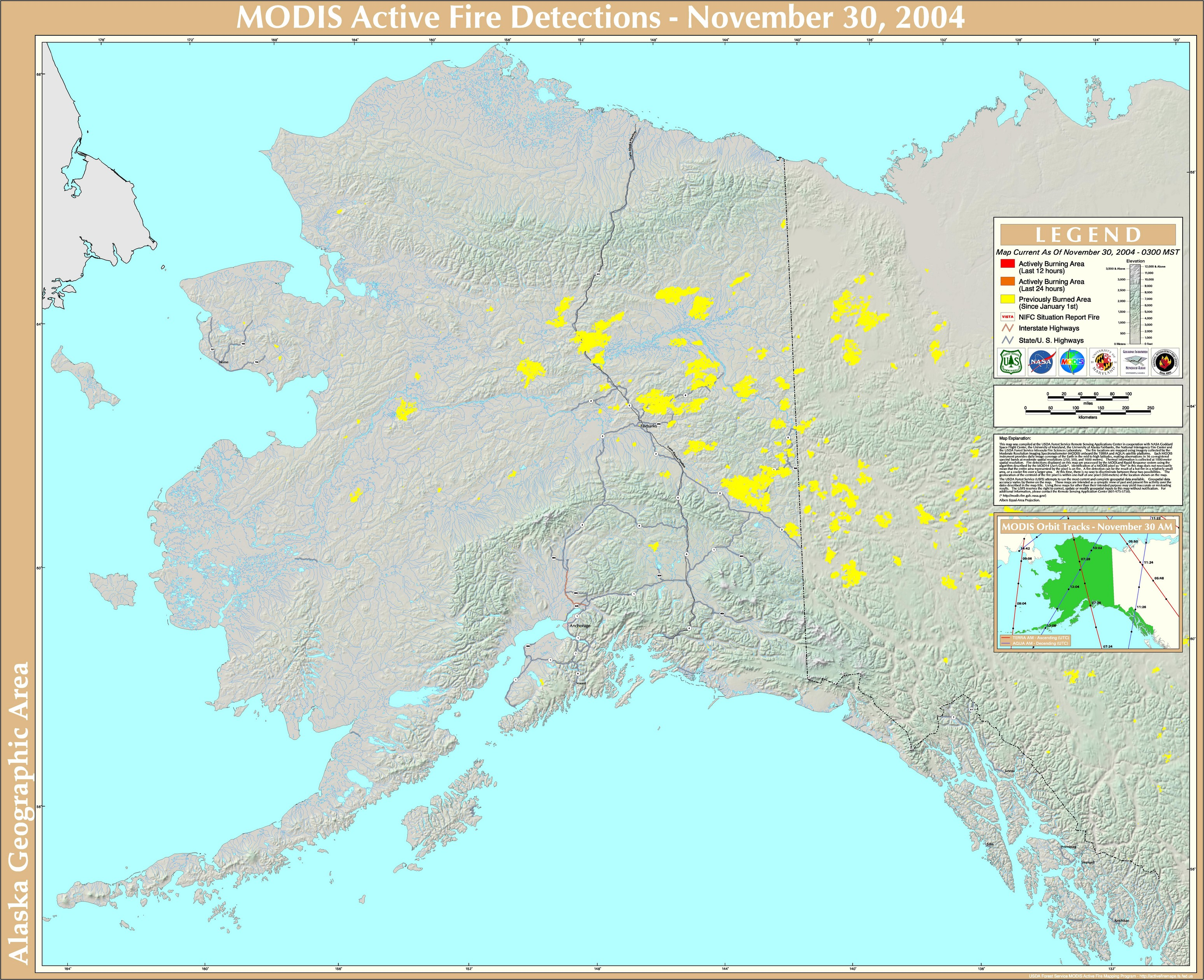 Nifc Large Fire Map.2004 Alaska Wildfires Wikipedia