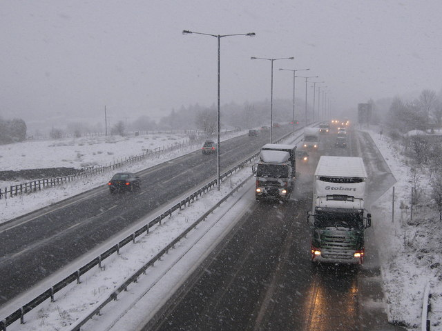 A Winter's Evening on Edenfield Bypass - geograph.org.uk - 1126433