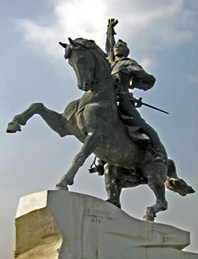 In 1792, Suvorov founded Tiraspol, today the capital city of Transnistria. An equestrian statue of Suvorov sits in the central square of the city.