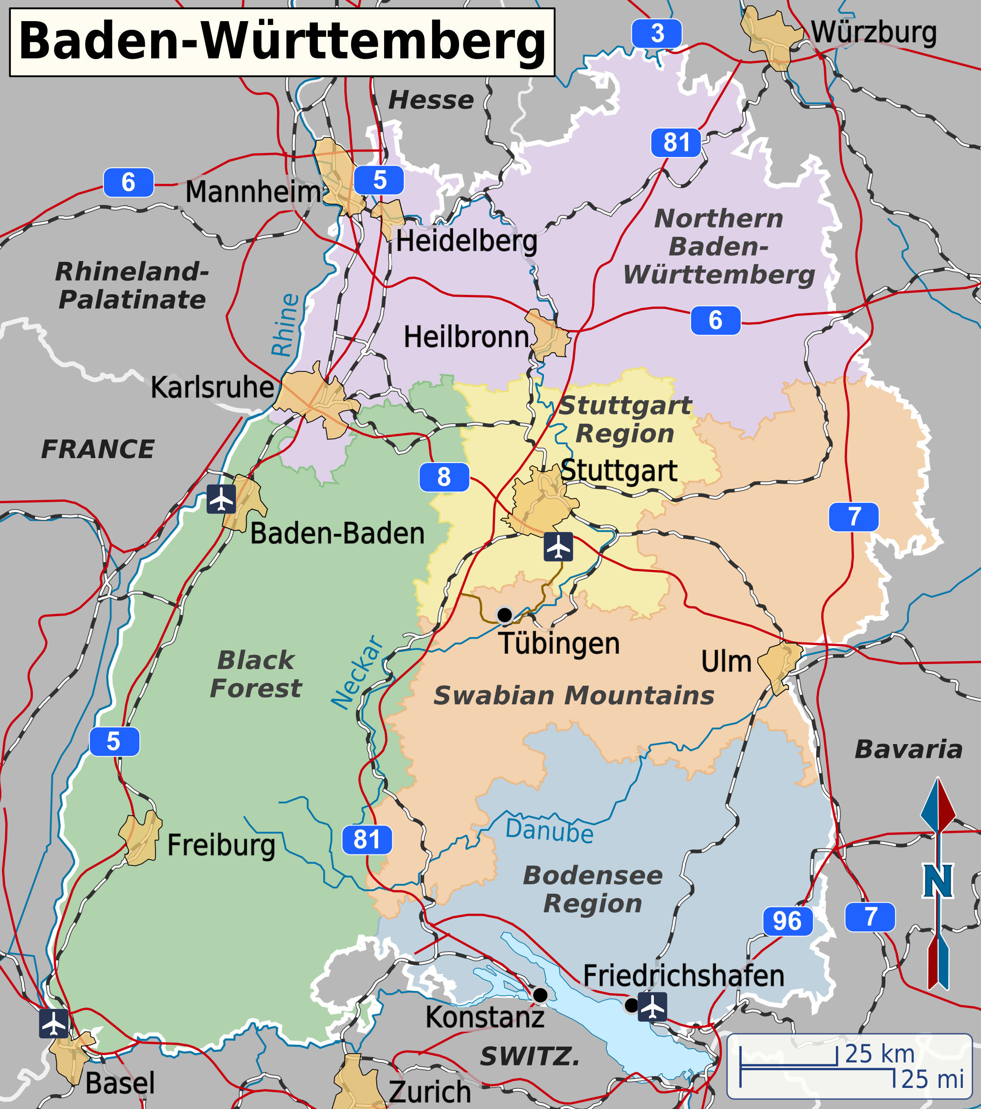 Map Of Germany Karlsruhe Baden.Baden Wurttemberg Travel Guide At Wikivoyage