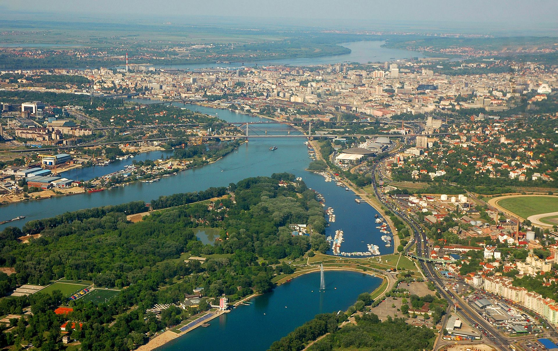 Belgrade from balloon