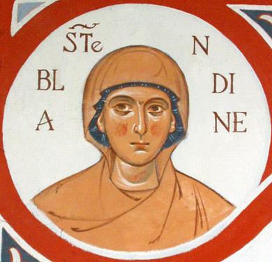 Sainte martyre Blandine de Lyon