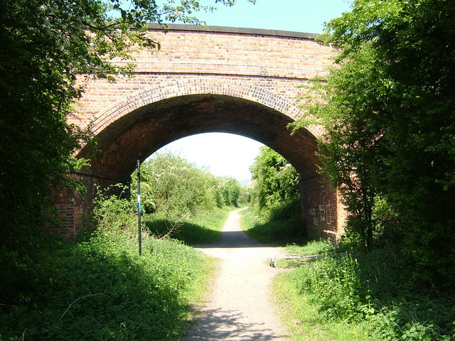 Bridge over Ashby Woulds Heritage Trail at Oakthorpe, Leicestershire