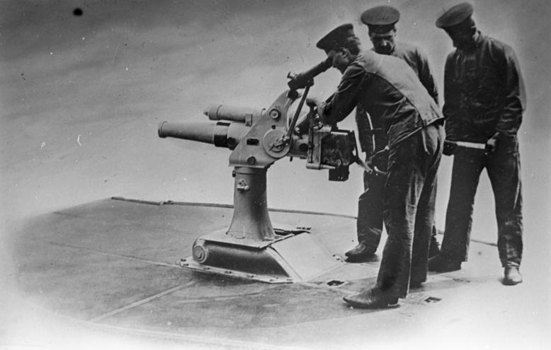 Versenkbares U-Boot-Geschütz der Firma Krupp, um 1900
