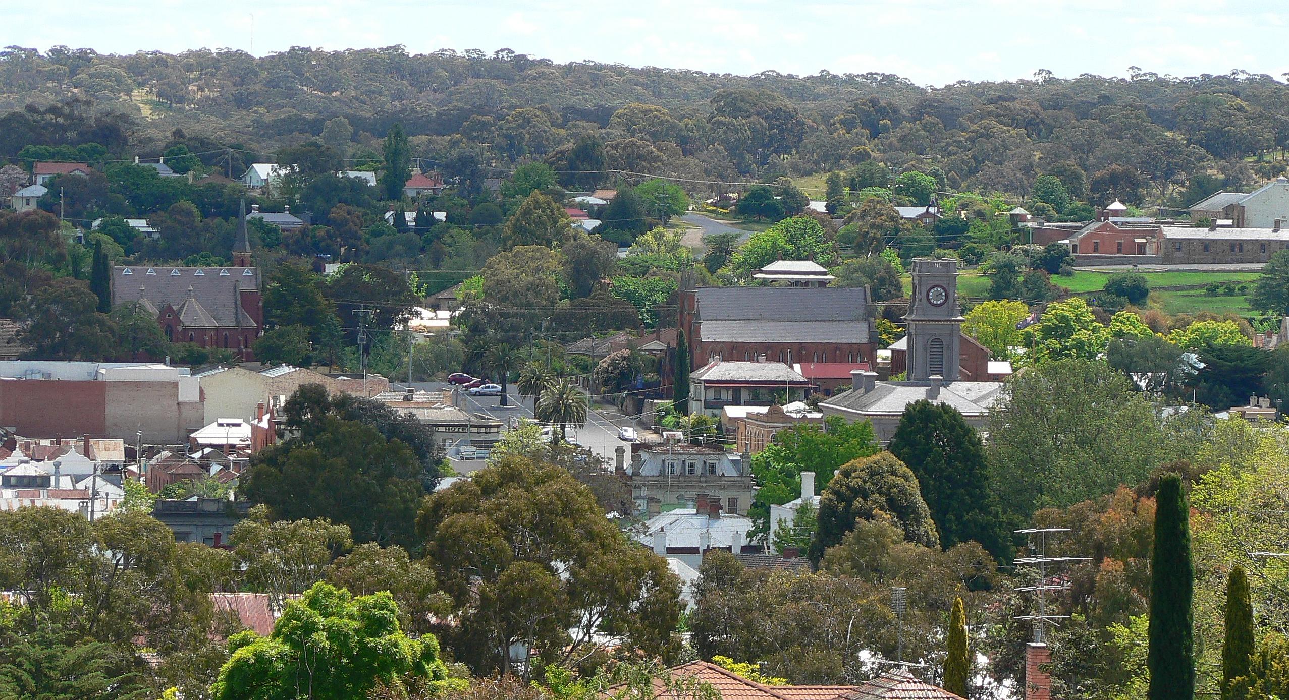 Castlemaine Australia  city photos gallery : Castlemaine from burke and Castlemaine, Australia