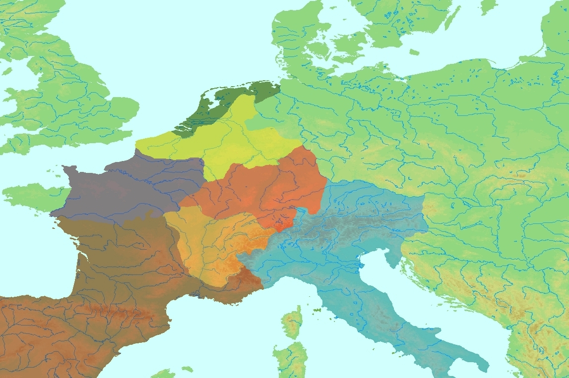 map of europe 5th century Ymele:Central Europe 5th century blank.   Wikipǣdia, sēo frēo