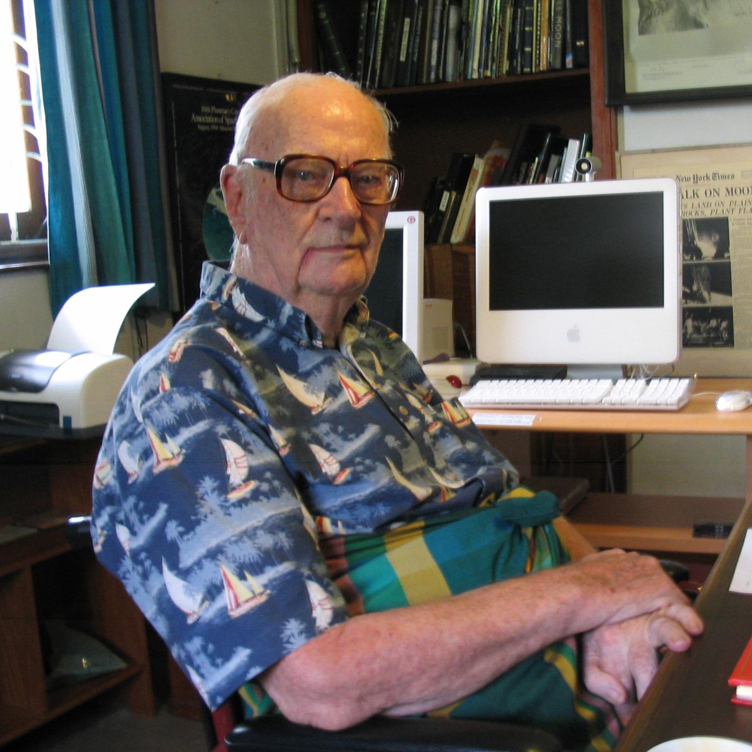 Sir Arthur C. Clarke public domain photo by Amy Marash