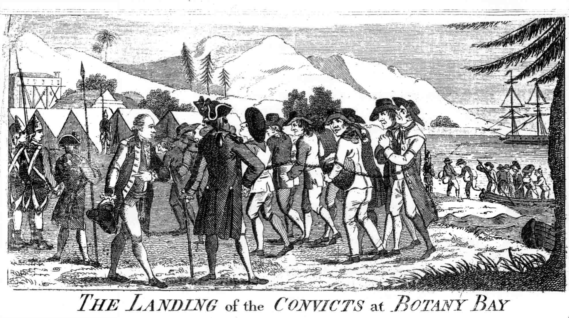 Convicts at [[Botany Bay