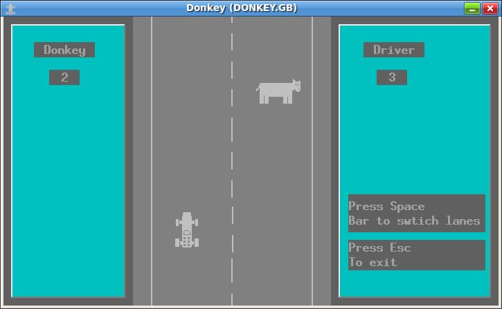 pantallazo del DONKEY.BAS