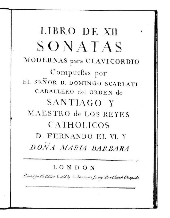 Sonatas De Domenico Scarlatti Wikipedia La Enciclopedia Libre