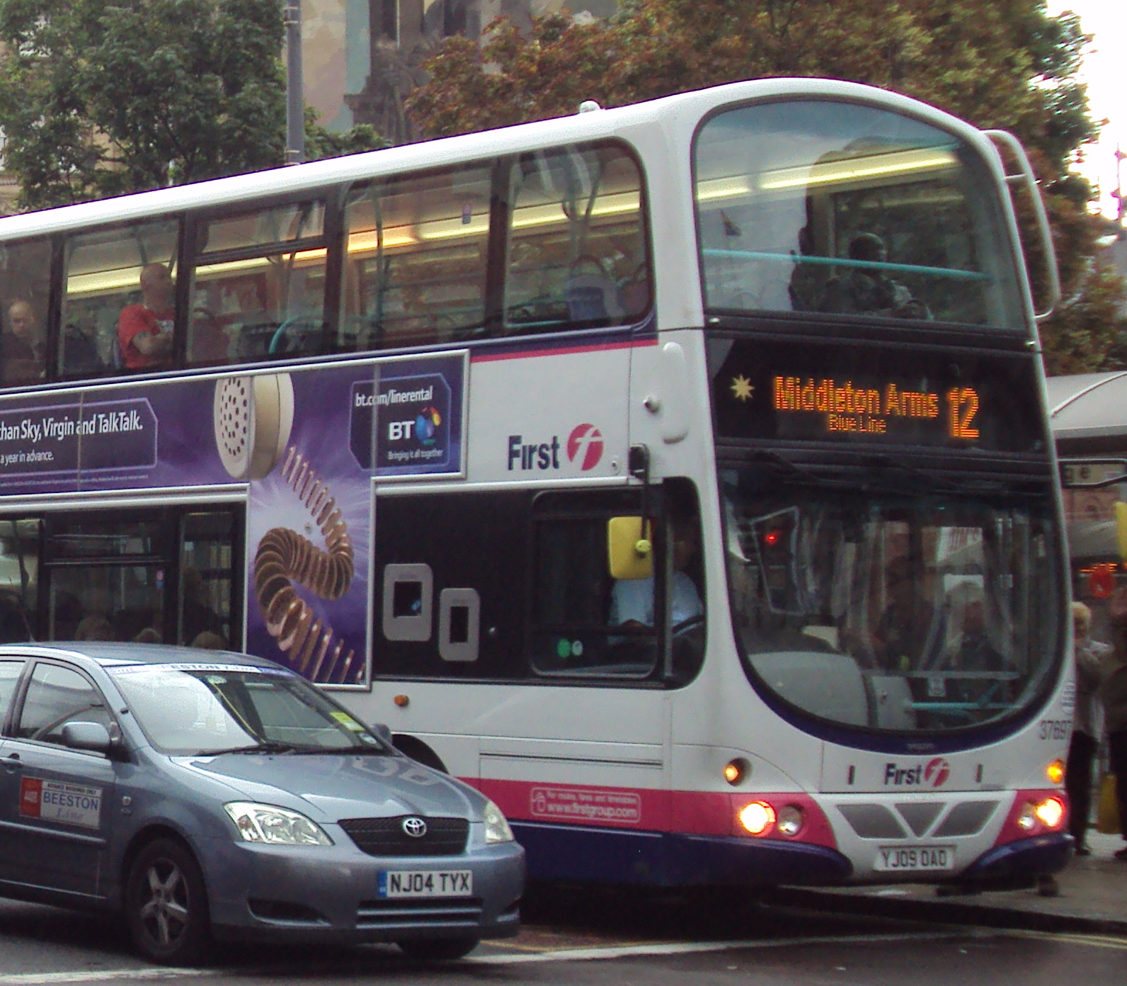 File First Leeds Bus 37697 Yj09 Oao 2009 Volvo B9tl