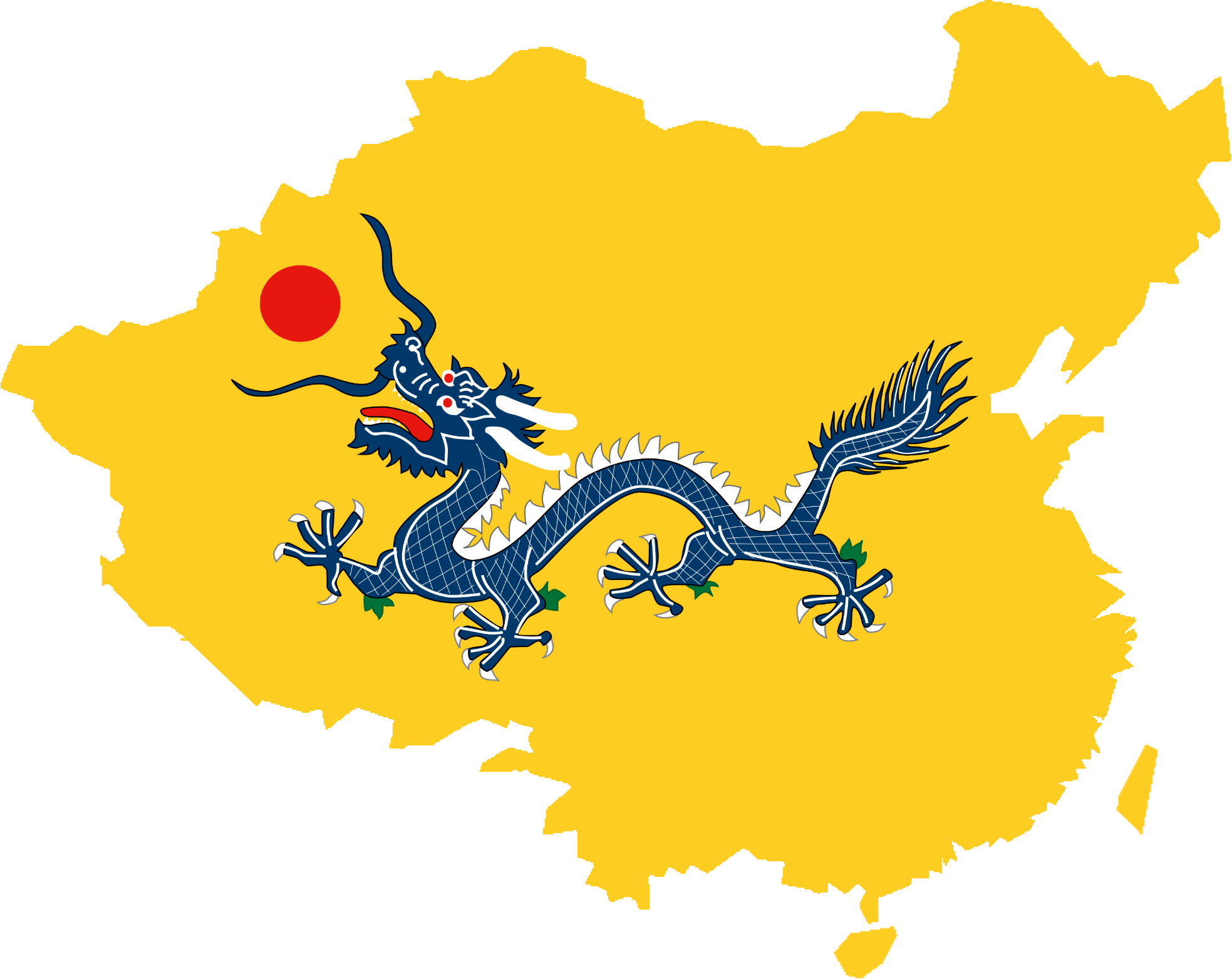 File:Flag map of Qing Dynasty (1644 - 1912).png ...