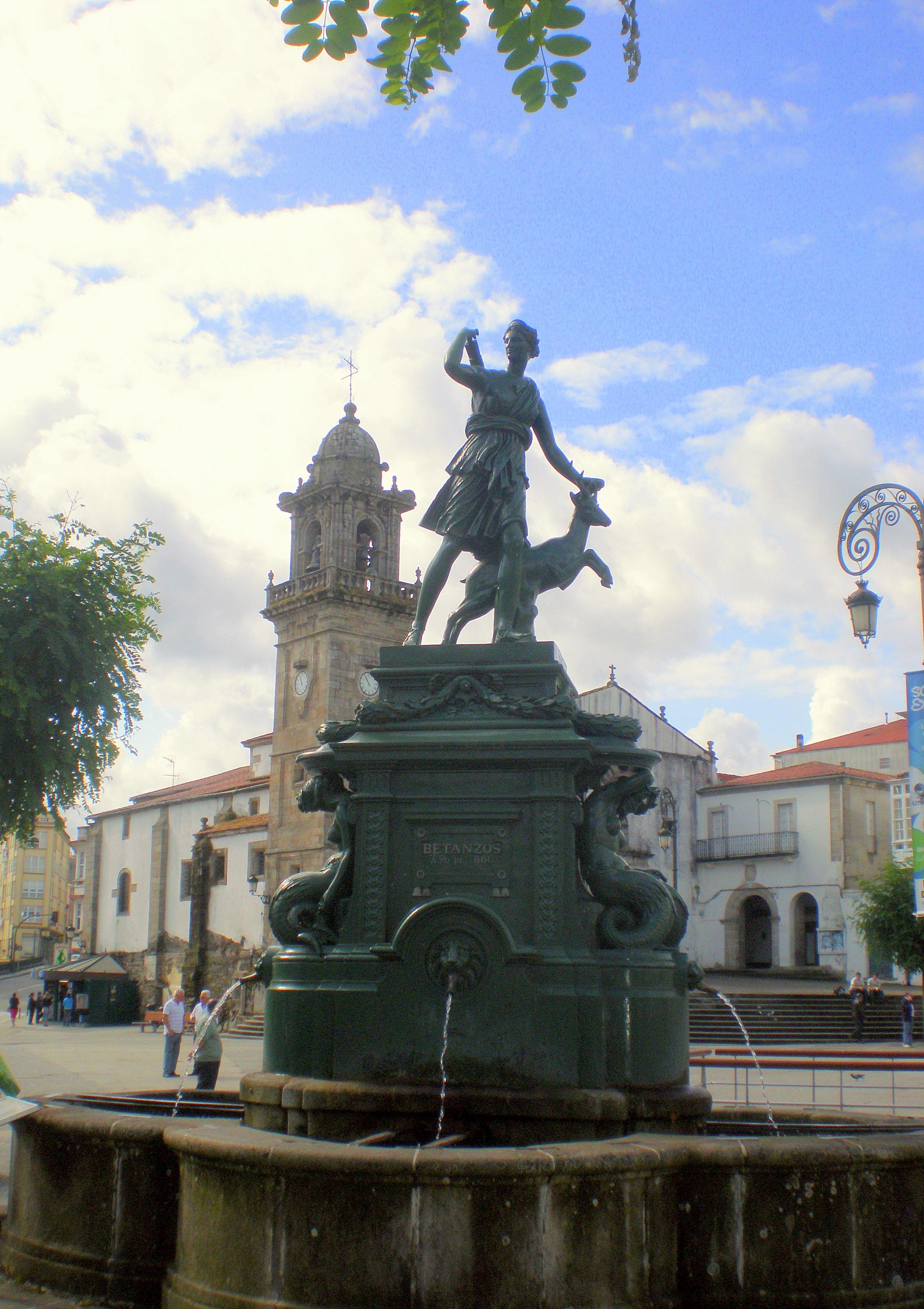 Betanzos Spain  City new picture : Fonte da Diana 1866 , Betanzos, Galicia Wikimedia Commons