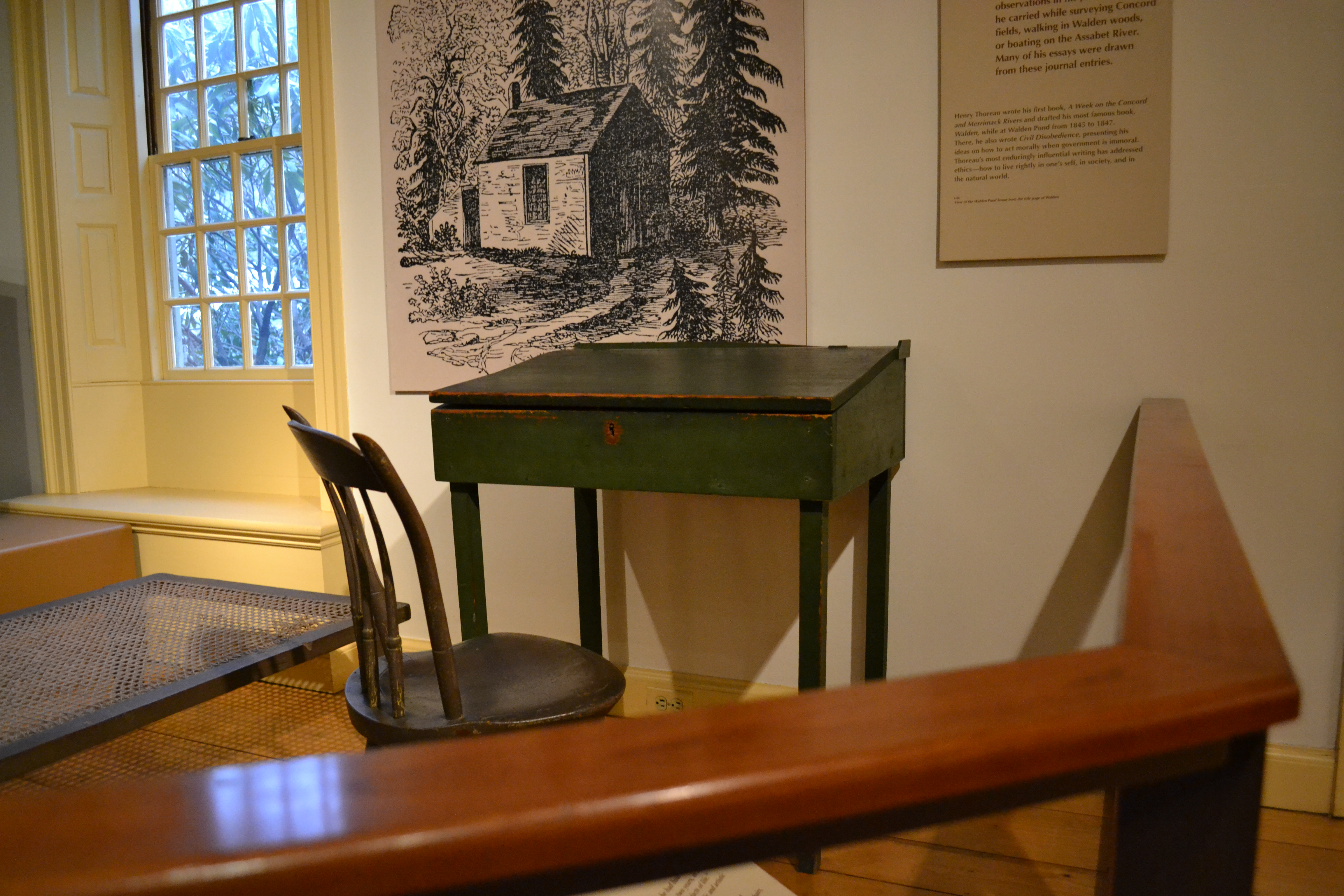 File:Furniture From The House At Walden. Chair And Desk