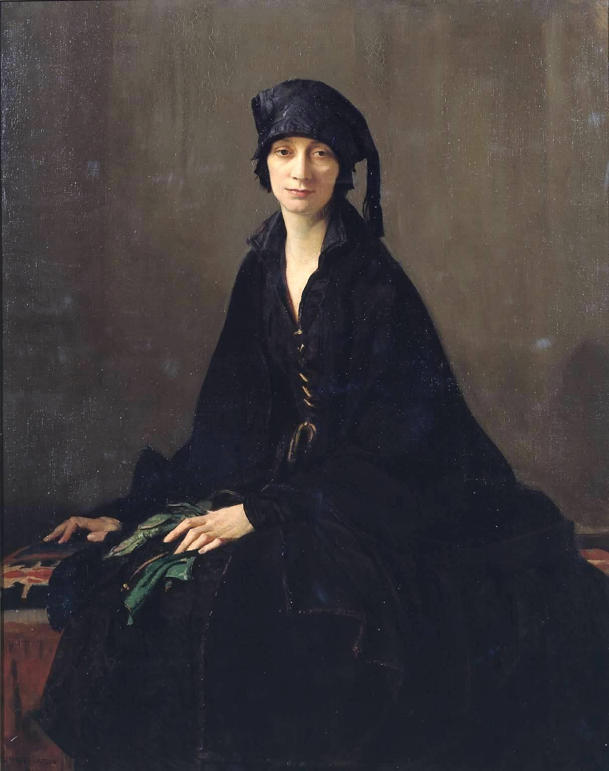 George Spencer Watson (1869-1934) George_Spencer_Watson_(1869-1934)_-_A_lady_in_black,_1922