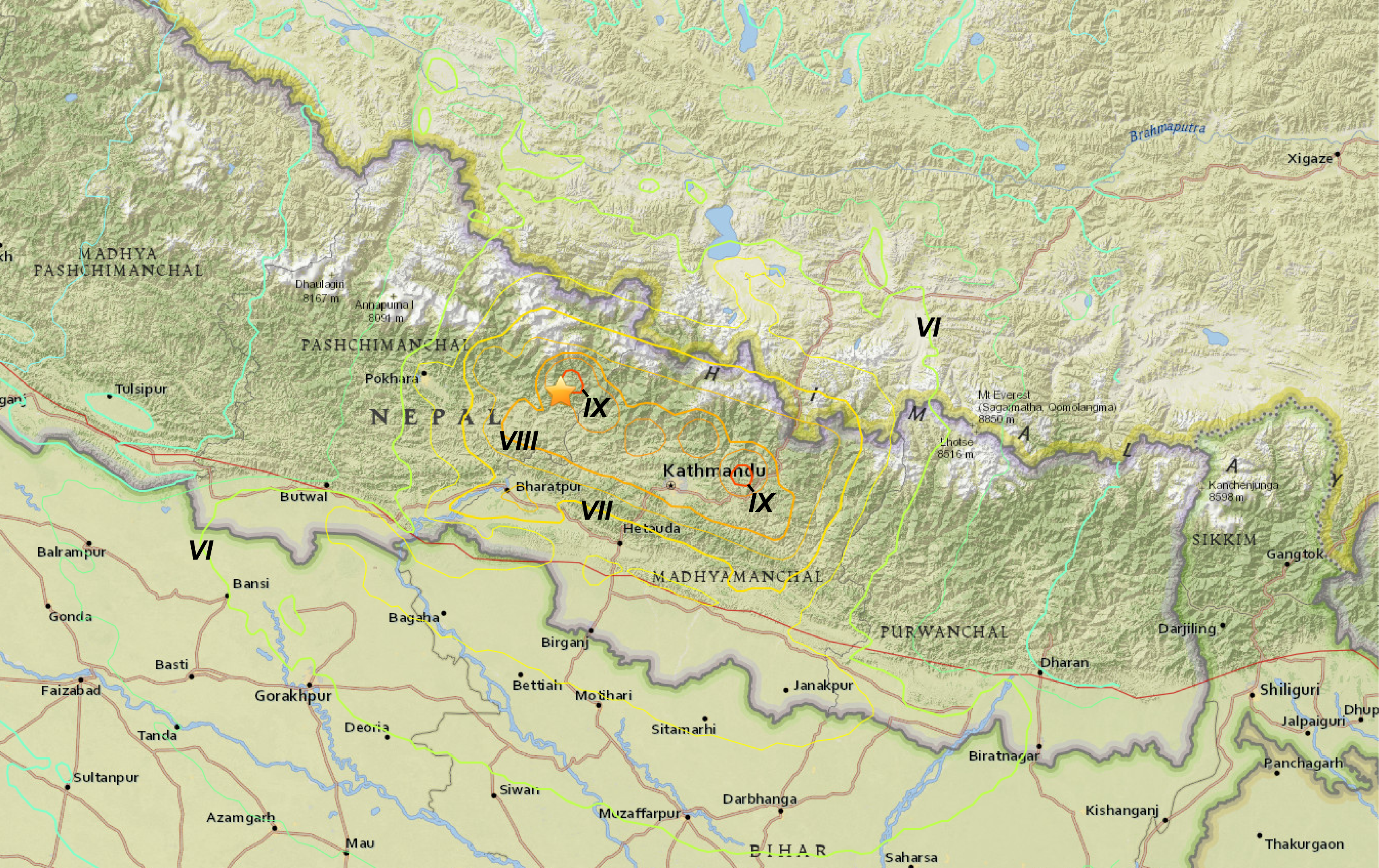 Filegorkha isoseismal map usgs annotatedg wikimedia commons filegorkha isoseismal map usgs annotatedg gumiabroncs Choice Image