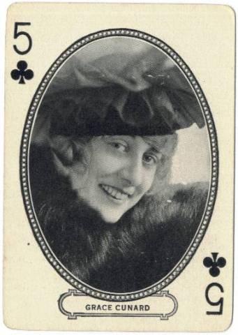 vintage 1916 cartes a jouer actrices