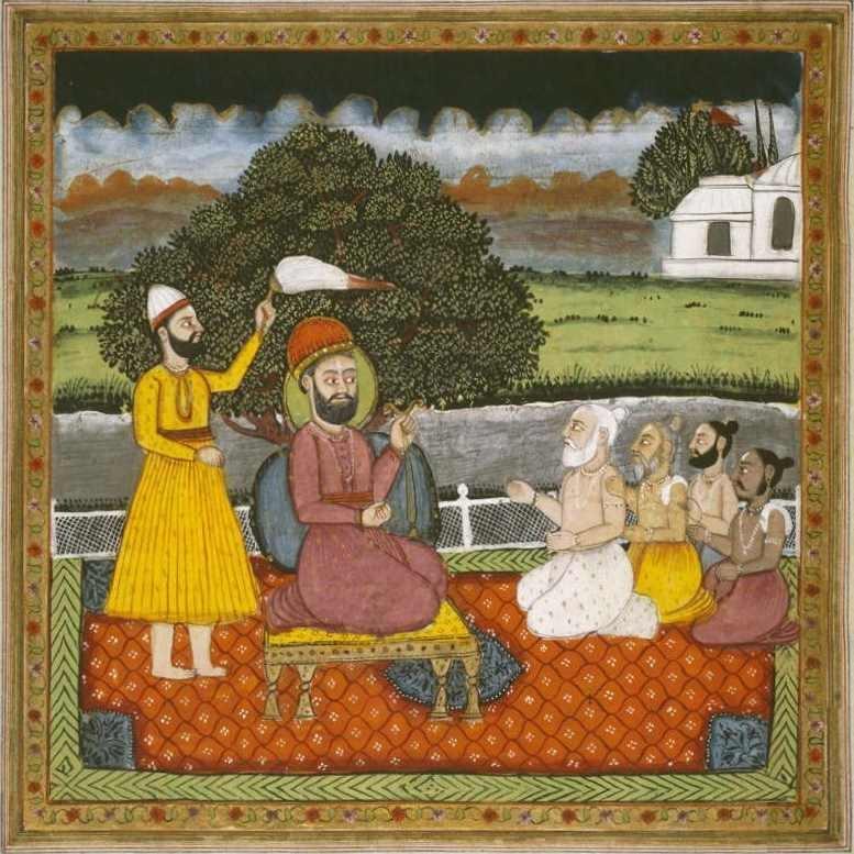 Guru Nanak trifft heilige Hindu-Männer.