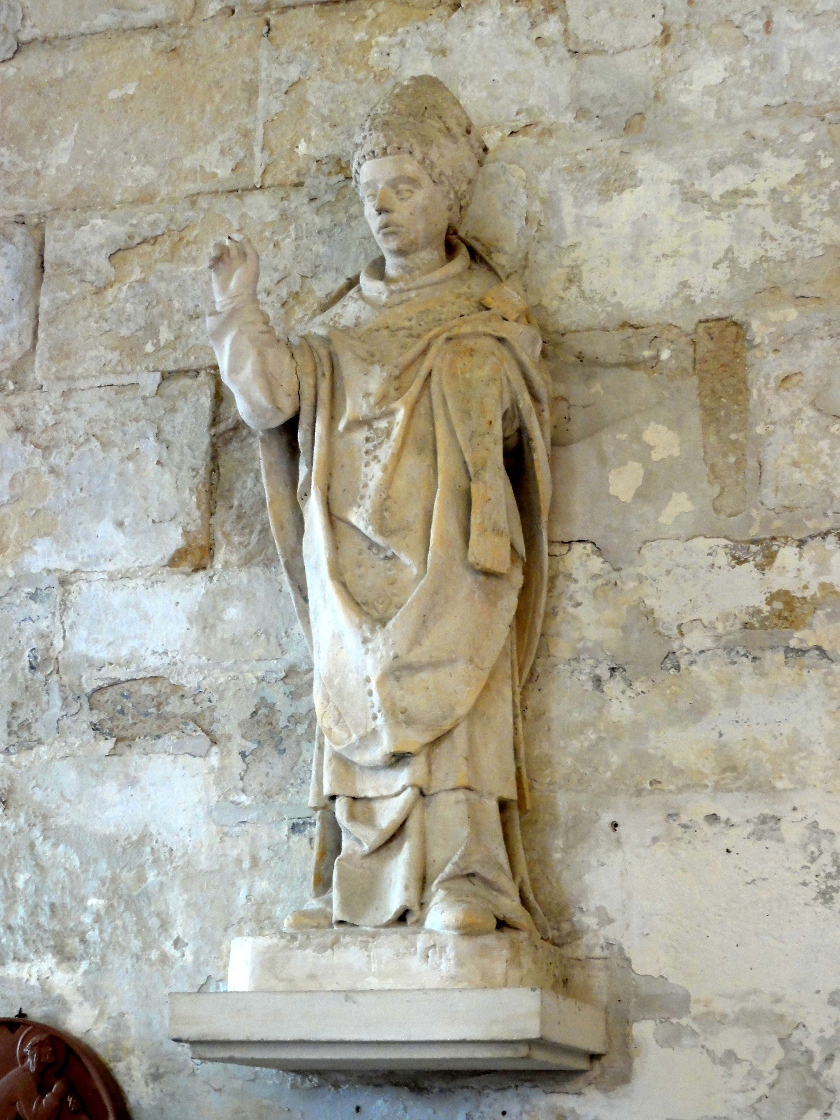 file h rouville 95 glise saint clair statue d 39 un saint v que wikimedia commons. Black Bedroom Furniture Sets. Home Design Ideas