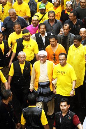 Hadi Awang at the Bersih rally